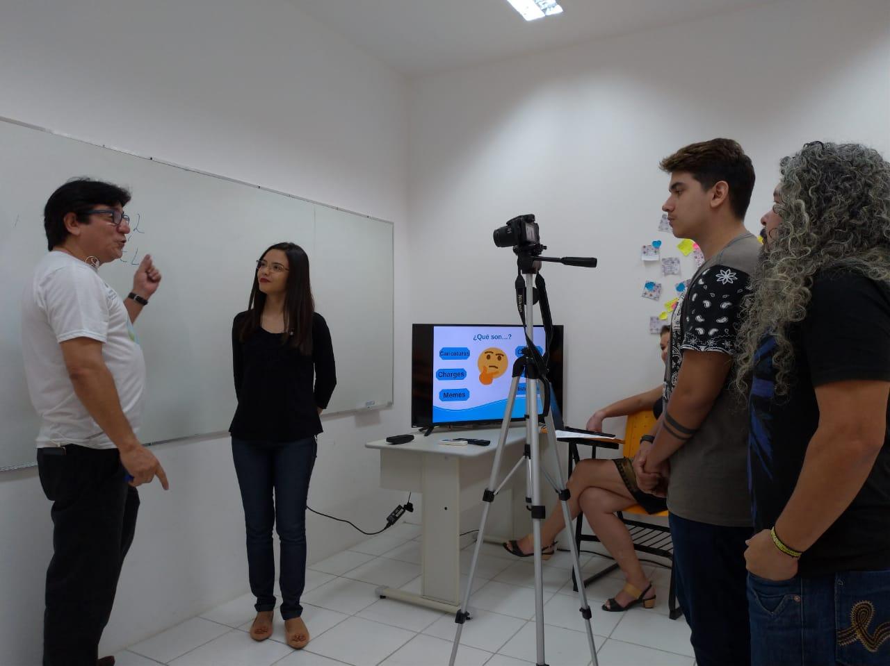 CODED/CED e Centro Cearense de Idiomas – CCI gravam hoje, em Maranguape, novas videoaulas para a plataforma #Enemnarede